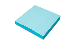 Cyan adhesive note Royalty Free Stock Photos