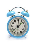 Cyan alarm clock Stock Photography