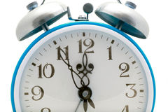 Cyan alarm clock Royalty Free Stock Photo