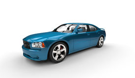 Cyan American Car Royalty Free Stock Photos