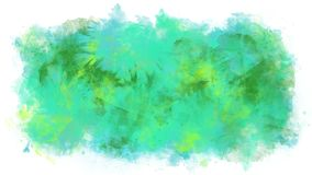 Cyan animation watercolor blob. Animation of the appearance and flow of watercolor blob background on the alpha channel royalty free illustration