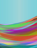 Cyan background with colorful waves design Royalty Free Stock Photos