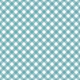 Cyan blå diagonal ginghammodell Textur från rombfyrkanter för - pläd, borddukar, kläder, skjortor, klänningar, papper, royaltyfri illustrationer