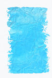 Cyan-blaue Farbe gestaltete gemaltes zerquetschtes Papier Stockfoto