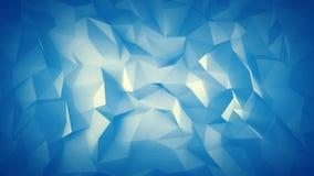 Cyan-blaue niedrige Poly-Oberfläche 3D Stockfotografie
