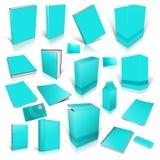 Cyan-blaue Sammlung des Blinddeckels 3d Stockbild