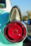 Cyan-blaue Sportauto-Rechtheckleuchte Stockbilder