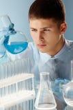 Cyan-blaue Substanz Lizenzfreies Stockbild