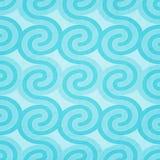 Cyan-blaue Wellen Lizenzfreie Stockbilder