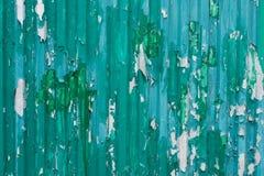 Cyan-blaue Zinnwand Stockfotos