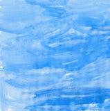 Cyan-blauer abstrakter Aquarellhintergrund stockbilder