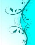 Cyan-blauer Blumenhintergrund Stockbilder