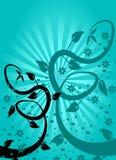 Cyan-blauer Blumenhintergrund Lizenzfreie Stockfotos