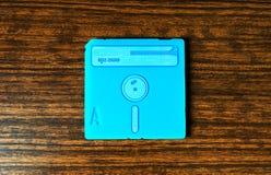 Cyan-blauer Diskettehintergrund der Weinlese Stockbild