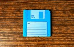 Cyan-blauer Diskettehintergrund der Weinlese Stockfotografie