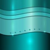 Cyan-blauer Hintergrund des Vektors Metall vektor abbildung