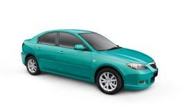 Cyan-blaues Auto stock abbildung