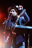 Cyan-blaues Band führt bei Palau Sant Jordi durch Lizenzfreie Stockfotografie