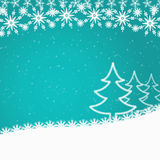 Cyan blue abstract Christmas background Royalty Free Stock Images