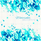 Cyan Blue Abstract Painted Background Royalty Free Stock Photos