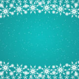 Cyan blue Christmas background Stock Photos