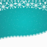 Cyan blue Christmas border Stock Photography