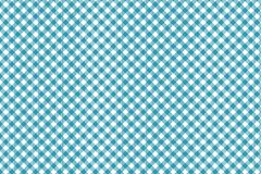 Cyan blue diagonal Gingham pattern. Texture from rhombus/squares for - plaid, tablecloths, clothes, shirts, dresses, paper,. Bedding, blankets, quilts and other stock illustration