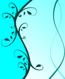 Cyan Blue Floral Background Royalty Free Stock Images