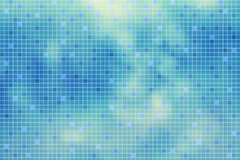 Cyan blue glass mosaic tile abstract illustration Royalty Free Stock Photos