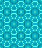 Cyan blue green color abstract geometric seamless pattern Stock Images