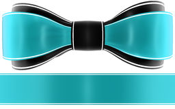 Cyan bow Royalty Free Stock Photos