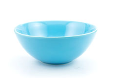 Cyan bowl, isolated on white Stock Images
