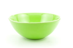 Cyan bowl, isolated on white Royalty Free Stock Image