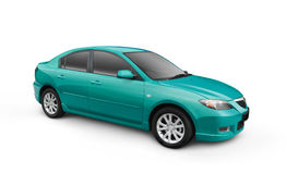 Cyan Car w/ Clipping Path Stock Photography