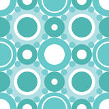 Cyan circles seamless pattern Stock Images