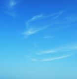 Cyan clear summer blue sky with clouds Royalty Free Stock Images