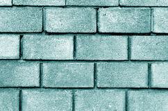Cyan color brick wall pattern. Royalty Free Stock Images