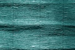 Cyan color crepe paper. stock photography