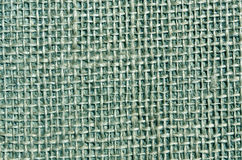 Cyan color sack cloth texture. Royalty Free Stock Images