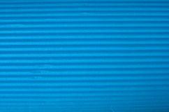 Cyan Corrugated cardboard texture. Royalty Free Stock Photos