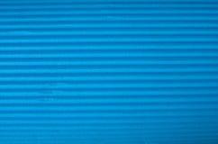 Cyan Corrugated cardboard texture. Royalty Free Stock Photos