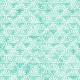 Cyan decorative watercolored background pattern stock illustration
