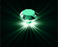 Bright diamond. Vector Stock Image