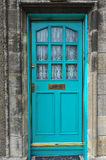 Cyan Door Royalty Free Stock Images