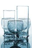 Cyan drinking glass Stock Photos