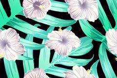 Cyan exotic pattern. stock photo