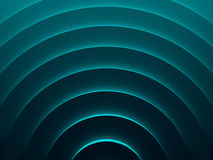 Cyan expanding rings. Abstract background. Picture. 3D illustration. This image works good for text and website background, print and mobile application Royalty Free Stock Photography