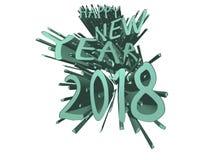 Cyan explosion för lyckligt nytt år 2018 Royaltyfri Illustrationer