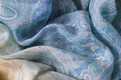 Cyan fabric texture background stock images