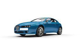 Cyan Family Car Royalty Free Stock Photography